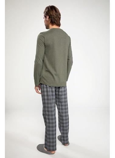 DeFacto Pijama Takımı Yeşil